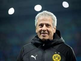 Lucien Favre réalise une grande saison avec le Borussia. AFP