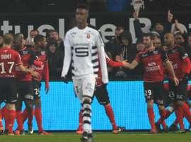 Les Guingampais ont marqué les premiers dans le derby breton contre Rennes, disputé au Roudourou, le 21 janvier 2017