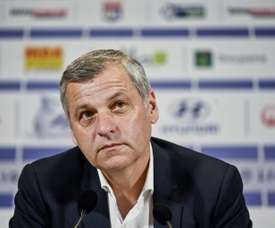 Le coach lyonnais Bruno Genesio. AFP