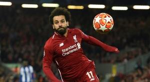 Mohamed Salah, ici face à Porto le 9 avril 2019 à Anfield. AFP
