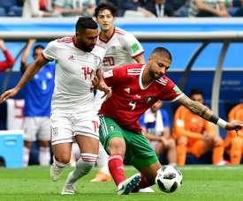 Ghoddos estuvo en el Mundial de Rusia con Irán. AFP