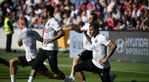 5000 people went to watch Le Havre versus PSG. AFP