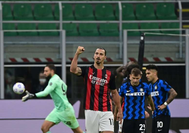 Zlatan Ibrahimovic proclaimed himself god of Milan. AFP