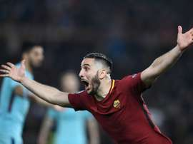 Le défenseur grec de l'AS Rome Kostas Manolas. AFP