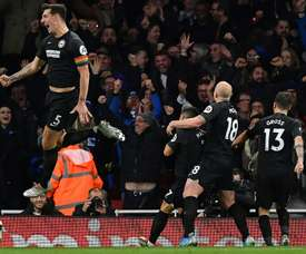 Chelsea interest in Brighton's Dunk. AFP