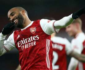 Lacazette spoke about Arteta. AFP
