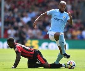 Kompany es duda para el choque del City ante el Watford. AFP