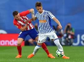 Adnan Januzaj et les siens l'emportent face à l'Atlético. AFP