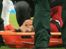 Salah n'est pas allé à l'hôpital. AFP