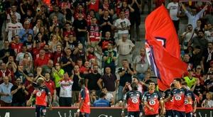 Les compos probables du match de Ligue 1 entre Reims et Lille. AFP