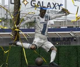 Une belle statue pour Beckham. AFP