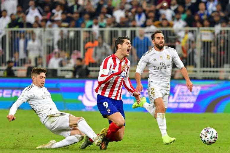 Fede Valverde, un partido de sanción. AFP
