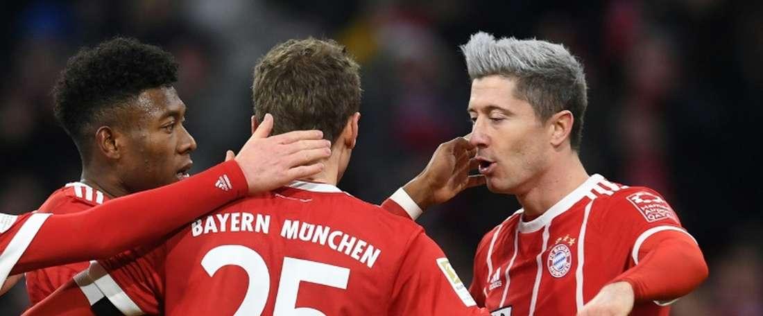 O Bayern bateu o Werder Bremen por 4-2. AFP