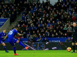 El Leicester logró igualar un partido que tenía perdido. EFE