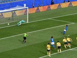Le Brésil reste sur une défaite devant l'Australie. AFP