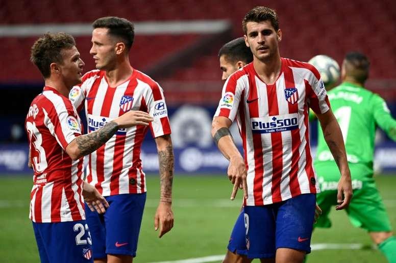 Morata a marqué le second but le plus raoide de la saison en Liga. AFP