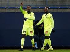 L'attaquant de Lille Pepe buteur lors de la victoire à Caen 3-1. AFP