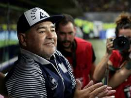 Maradona prolonge comme entraîneur de Gimnasia La Plata. AFP