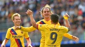 Les clés de la réaction du Barça, nouveau leader. AFP