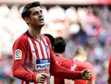 Alvaro Morata, auteur de son premier but avec l'Atletico Madrid. AFP