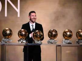 823 million people watched Messi win his 6th Ballon D'Or. AFP