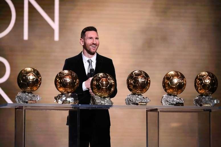 Messi a donné une interview avant d'être annoncé Ballon d'Or. AFP