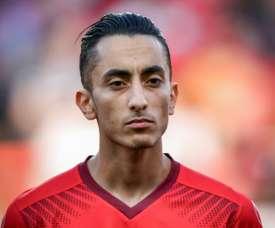 Saif-Eddine Kahoui lors du match face à la Turquie. AFP