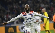 L'attaquant de Lyon Moussa Dembélé. AFP