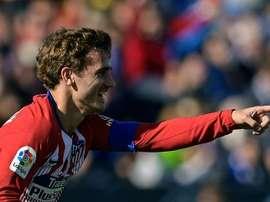 Antoine Griezmann buteur lors du match nul. AFP
