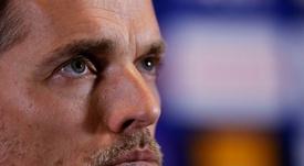 Thomas Tuchel sufrió para explicar en rueda de prensa su desencuentro con Mbappé. AFP