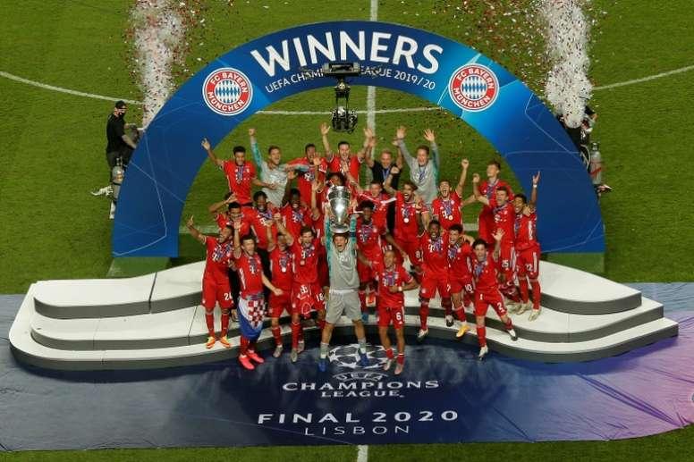 El Bayern celebró como merece la Champions. AFP/Archivo