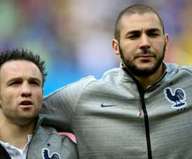 Benzema wants nothing to do with Valbuena. AFP
