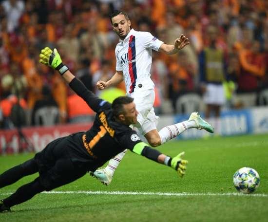 Adama Traoré blessé, Pablo Sarabia est sélectionné à sa place. AFP