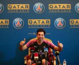 Gianluigi Buffon en conférence de presse à Doha. AFP