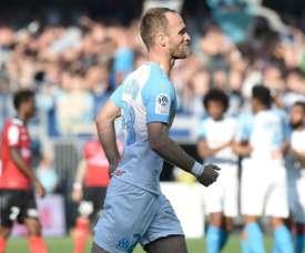 Valère Germain évoque son avenir à Marseille. AFP