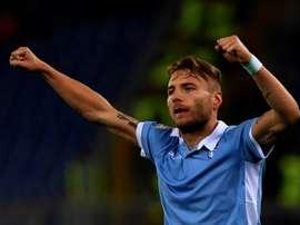 Immobile, fazendo uma grande temporada no Lazio. AFP