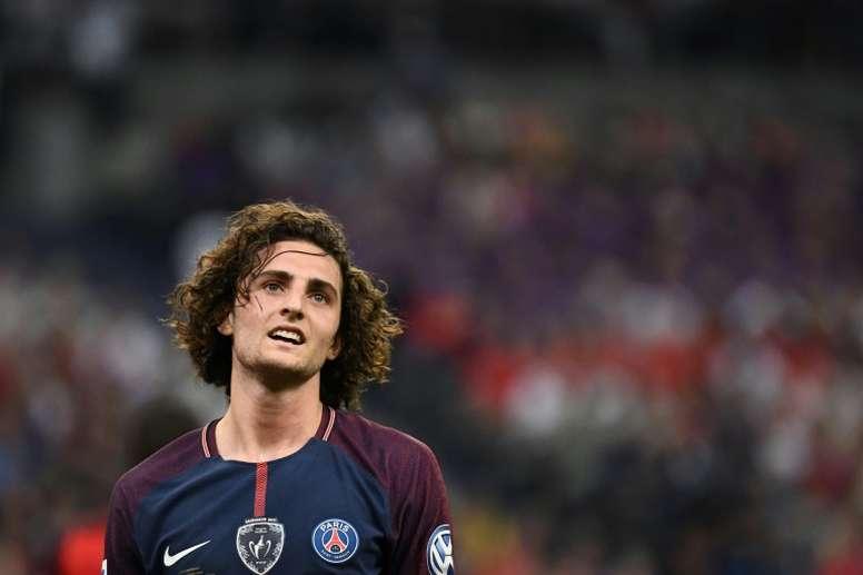 Le milieu parisien Adrien Rabiot, le 8 mai 2018 au Stade de France. AFP