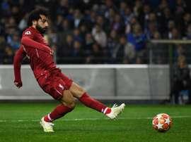 Salah, élu meilleur joueur du mois d'avril. AFP