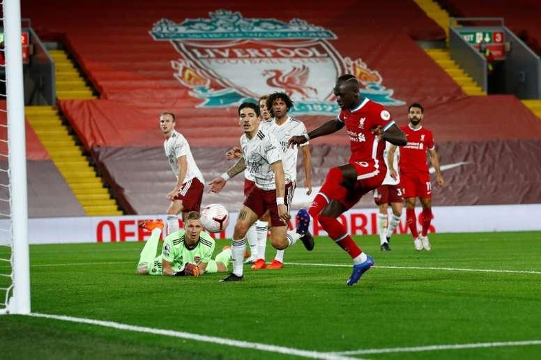 Liverpool, imbattable à domicile. AFP