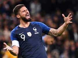 Le directeur sportif de l'Inter évoque les négociations pour Giroud. AFP