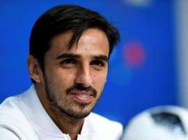 Bryan Ruiz, triste por caer eliminado del Mundial. AFP