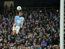 Gabriel Jesus a marqué l'un des sept buts de Manchester City. AFP