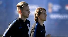 Los dos 'cracks' croatas, apercibidos. AFP