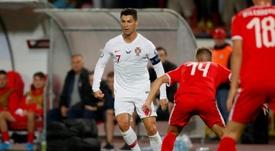 Portugal venció por 2-4 a Serbia. AFP