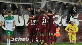 El Metz venció 3-1. AFP