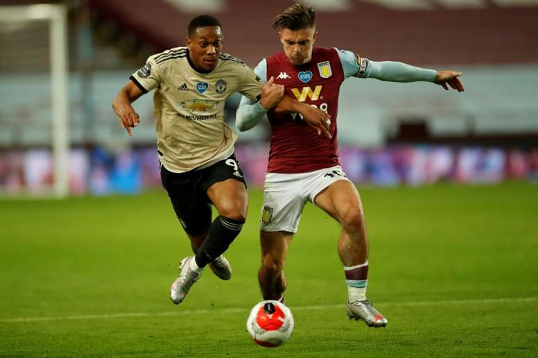 Arsenal are interested in Grealish. AFP