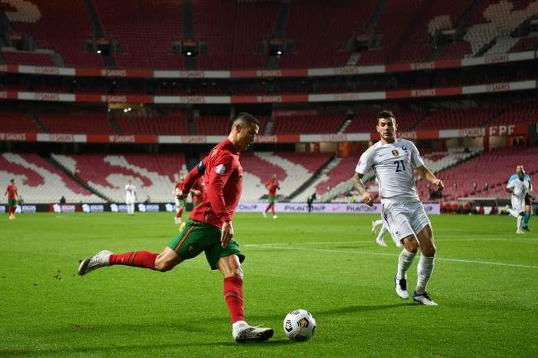 Pavard analyse le match face au Portugal. AFP