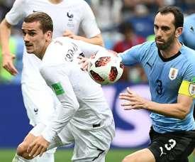 Griezmann va voyer en Uruguay. AFP