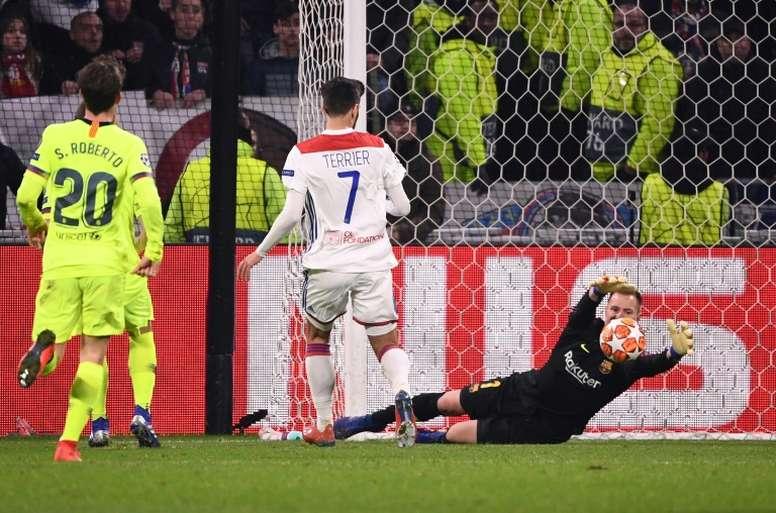 Ter Stegen es un seguro de vida en Champions. AFP