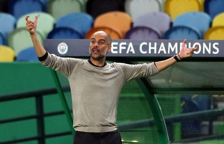 Guardiola consideró 'difícil de asimilar' encajar cinco goles por primera vez. AFP